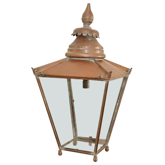 Copper street lantern as a table lamp at 1stdibs for Chair table lamp yonge st