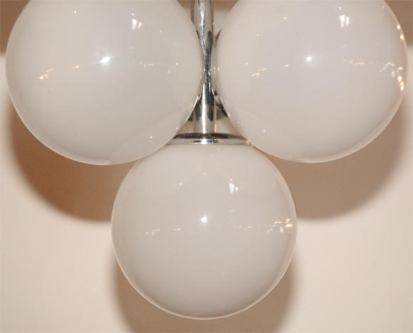 Ten Globe Hanging Light Fixture At 1stdibs