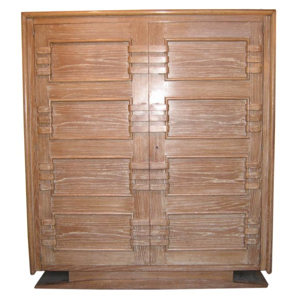 1940s beautiful cerused oak armoire at 1stdibs for Furniture 89014