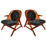 Pair of lounge chairs designed by Edward Wormley