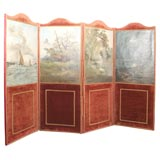Barbizon School Painted Screen