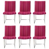 Set of 6 Dining Chairs by Milo Baughman for Thayer Coggin