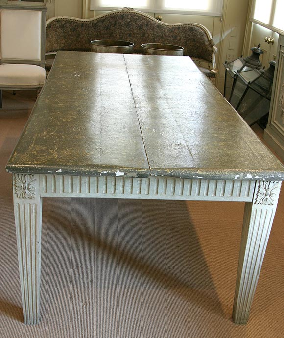Painted Grey Dining Table At 1stdibs
