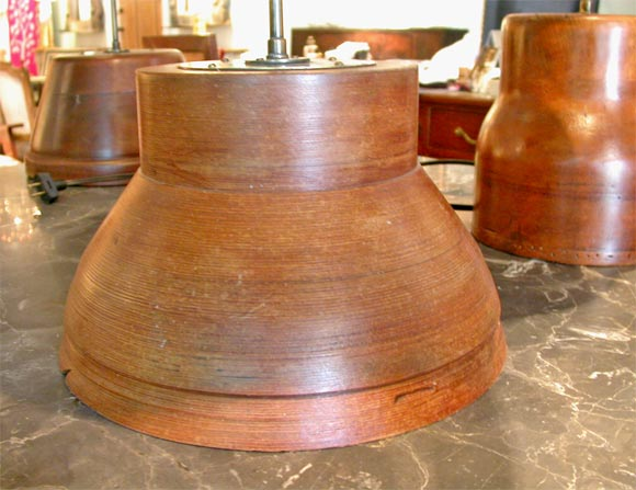 Antique wooden spindle table lamp at stdibs