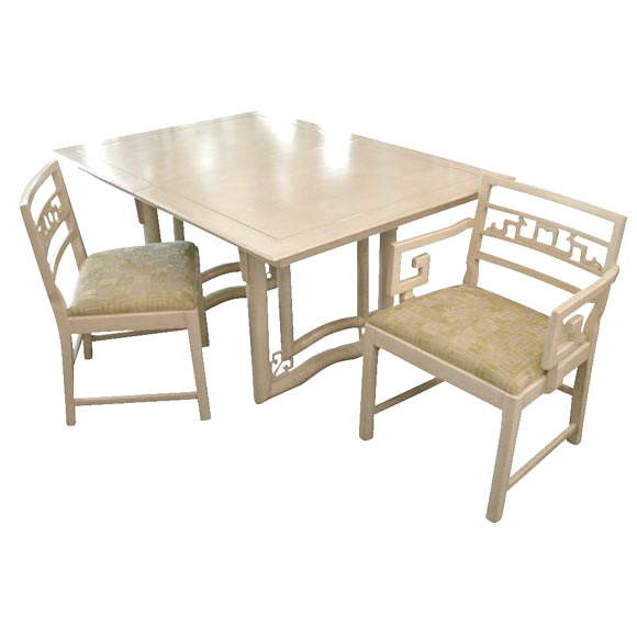 baker dining table and six chairs at 1stdibs