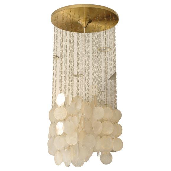 Verner panton capiz shell light at 1stdibs for Shell ceiling light fixtures