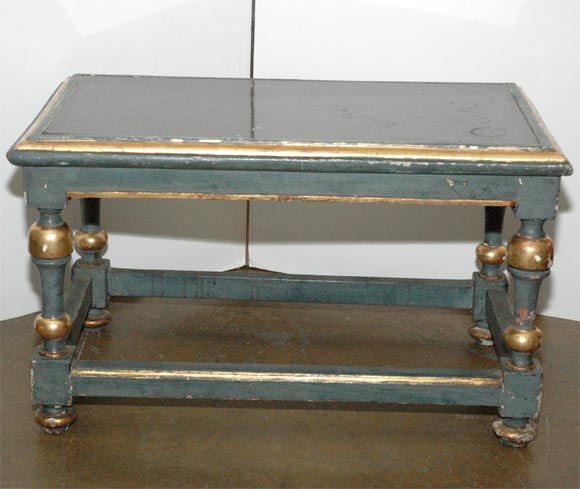 Gilt French Painted Cocktail Table For Sale