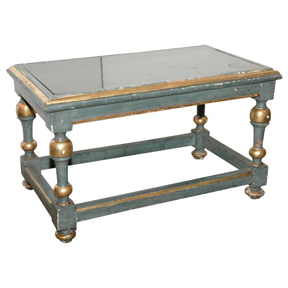 French Painted Cocktail Table For Sale