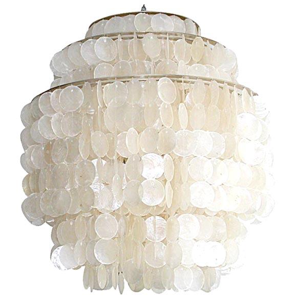 Hydromedusa 4 Capiz Shell Light By Gwen Carlton At 1stdibs