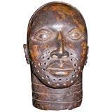 Antique Bronze Head from Nigeria