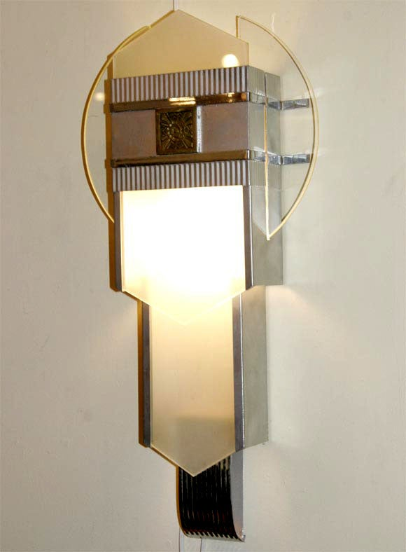 Art Deco Theatre Wall Sconces at 1stdibs