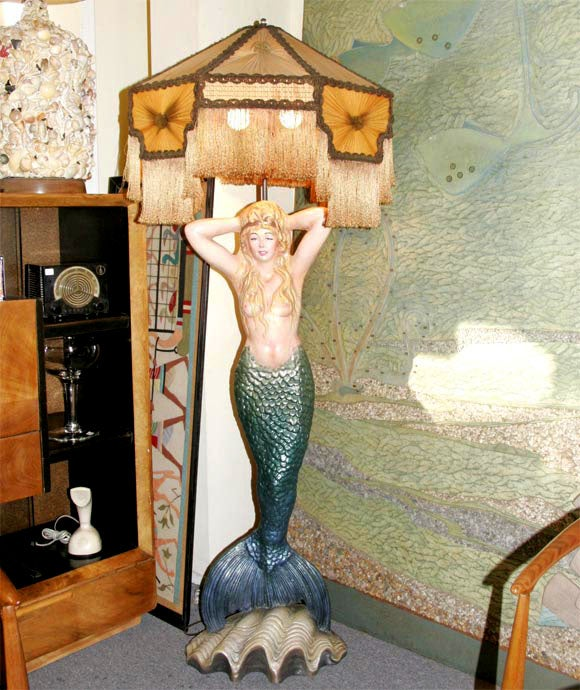 Mermaid Masthead Standing Lamp At 1stdibs