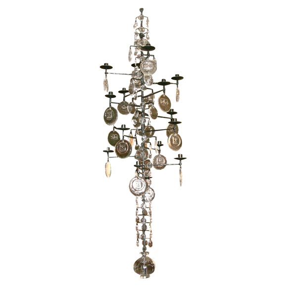 Pair of candelabra chandeliers by eric hoglund at 1stdibs pair of candelabra chandeliers by eric hoglund for sale aloadofball Images
