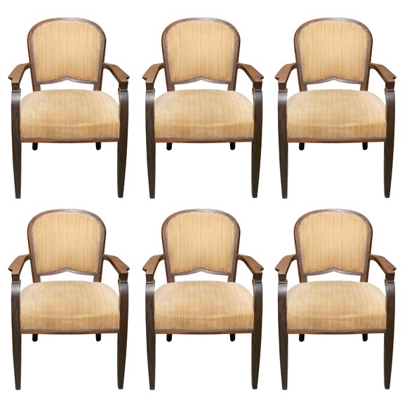 set of six deco rosewood chairs at 1stdibs