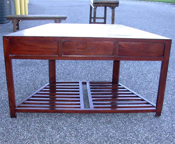 Mid 19tC. Q'ing Dynasty Jiangsu Jumu Wood French Polished Angled Desk 8
