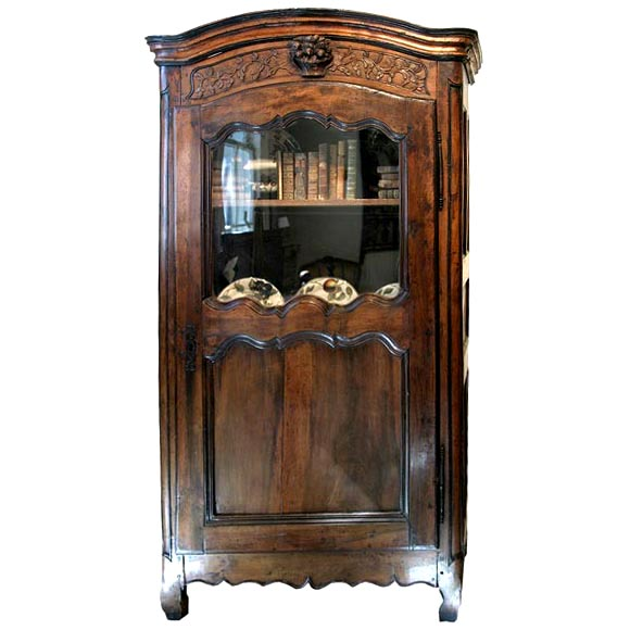 18th c walnut bonnitiere at 1stdibs for Empire antiques new orleans