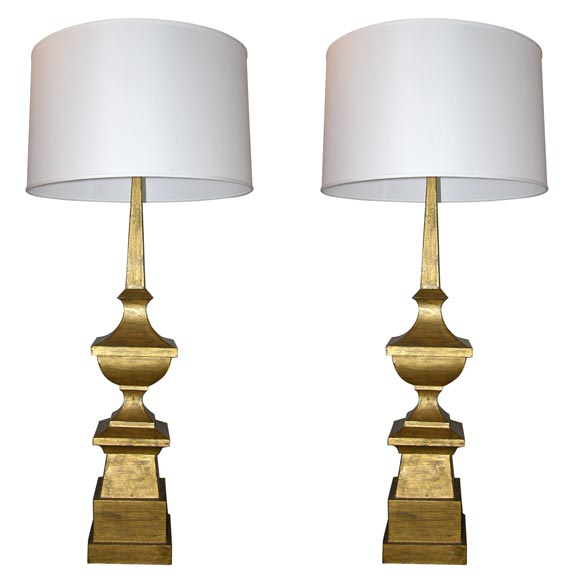 Pair of Classic Modern Table Lamps