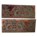 Pair of 17th century velvet panels