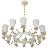 12 Arm Classic American Moderne Chandelier