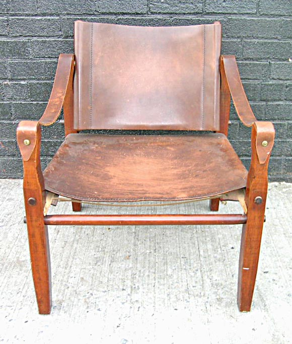 20th Century Safari Chair in the manner of Kaare Klint