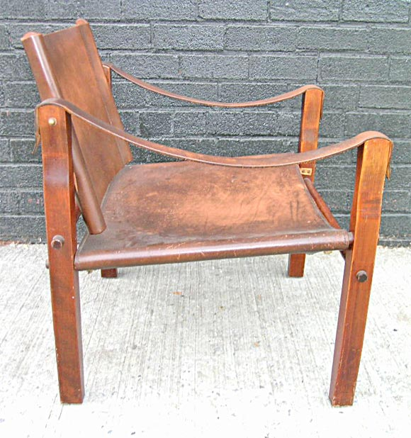 Oak Safari Chair in the manner of Kaare Klint