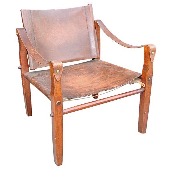 Safari Chair In The Manner Of Kaare Klint At 1stdibs