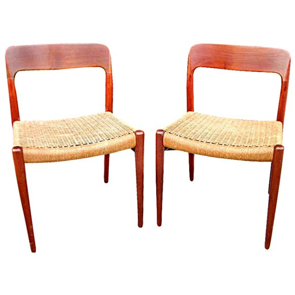 8 Dining Chairs By NO Moller For Sale