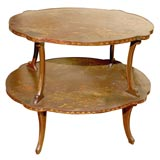 French Lacquered Two Tier Dessert Table