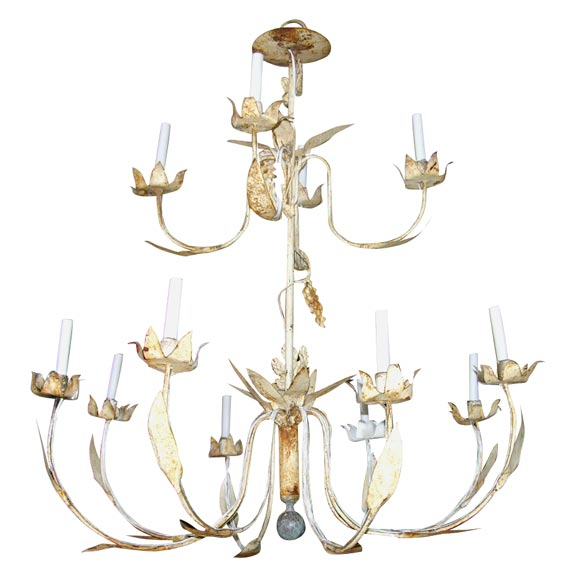 French Metal Chandelier At 1stdibs