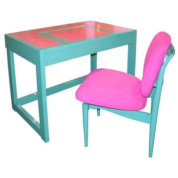 Writing Table & Chair by Paul Laszlo For Sale