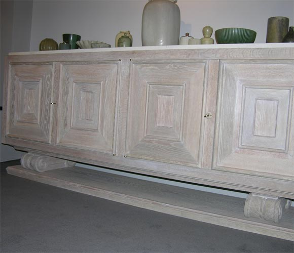 Pair Of Limed Oak Four-door Sideboards / Cabinets At 1stdibs