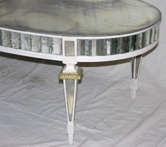 Oval Mirrored Coffee Table At 1stdibs