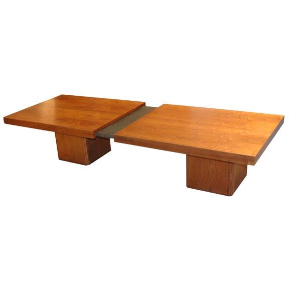 Walnut Slide Top Coffee Table By John Keal
