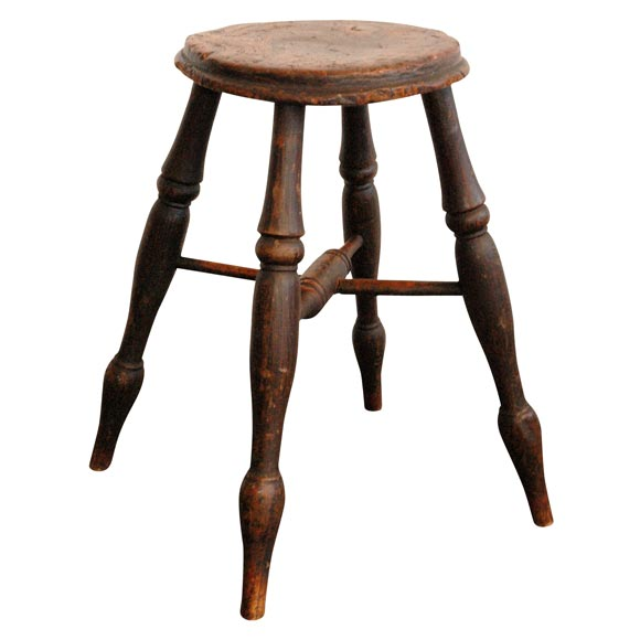 18thc Burl And Walnut Stool With Original Surface At 1stdibs