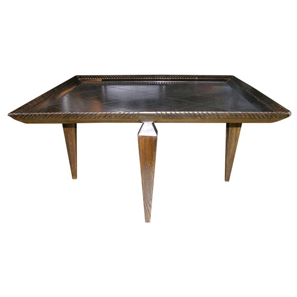 Square Dark Oak Coffee Table At 1stdibs