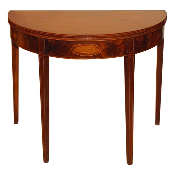 Demi lune tea table at 1stdibs - Table demi lune murale ...