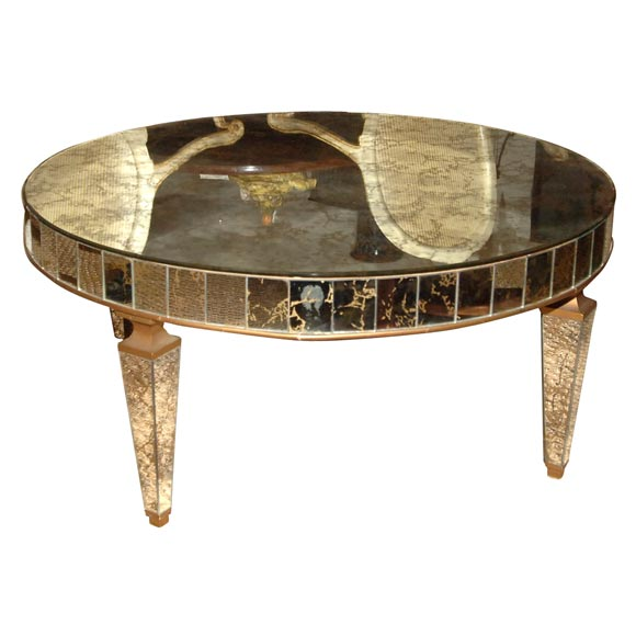 a 1950 39 s round mirrored cocktail table at 1stdibs