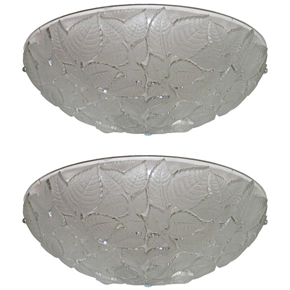 """Pair of """"Charmes"""" Art Deco Wall Sconces by Rene Lalique"""