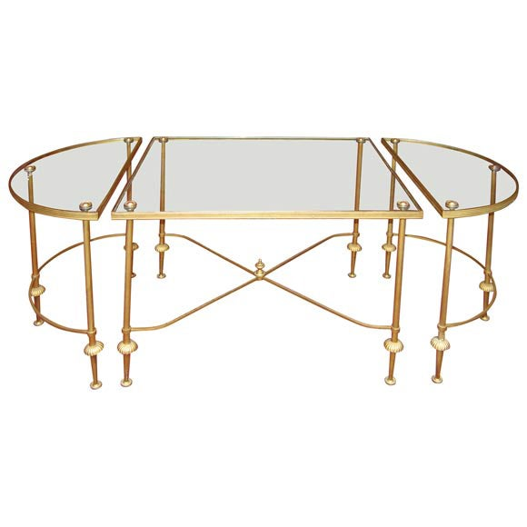 Three parts coffee table at 1stdibs for Cocktail tables parts