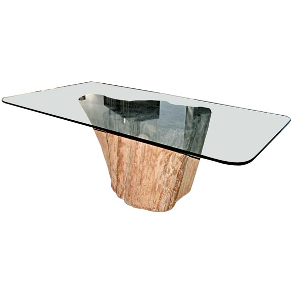 for Tree trunk dining table
