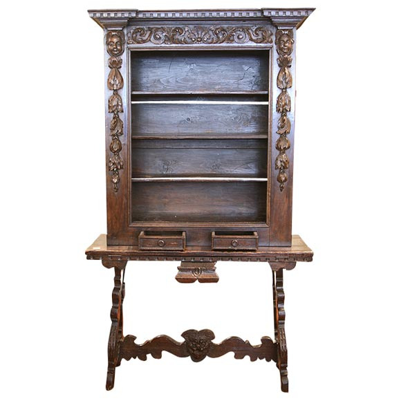 18th c spanish walnut vitrine at 1stdibs for Empire antiques new orleans