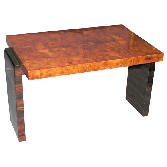 Burl Coffee Table: Macassar Ebony And Burl Top Coffee Table At 1stdibs