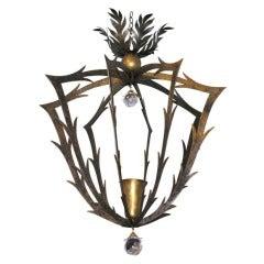 Hervé van der Straeten, Bronze chandelier, France, 2006