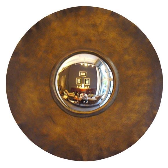contemporary round bull 39 s eye mirror by herve van der straeten at 1stdibs. Black Bedroom Furniture Sets. Home Design Ideas