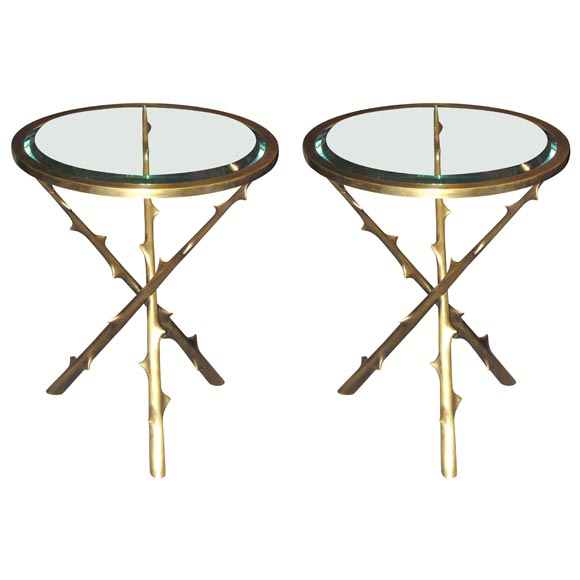 round tripod side table by herve van der straeten at 1stdibs. Black Bedroom Furniture Sets. Home Design Ideas