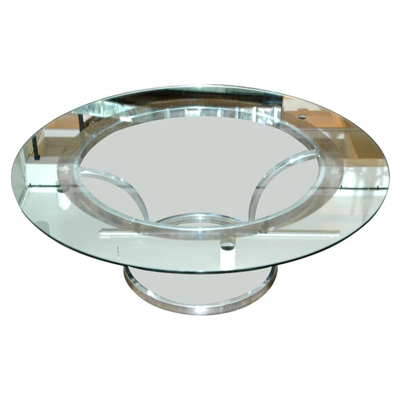 Chrome Round Coffee Table At 1stdibs