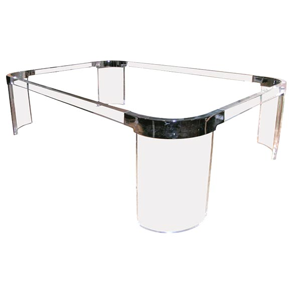 White Waterfall Tables ~ Waterfall dining table by charles hollis jones at stdibs
