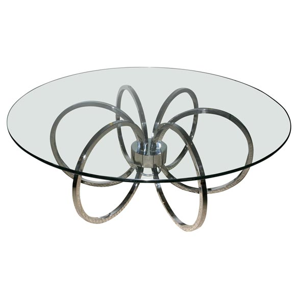 Chrome Loop Coffee Table At 1stdibs