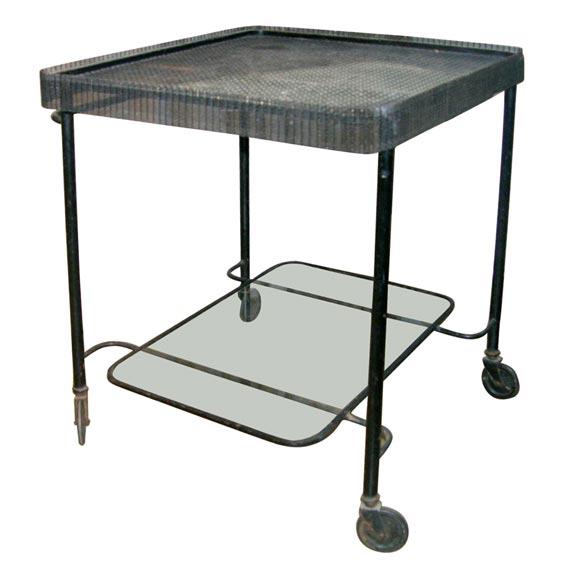 Mategot Serving Cart on Wheels