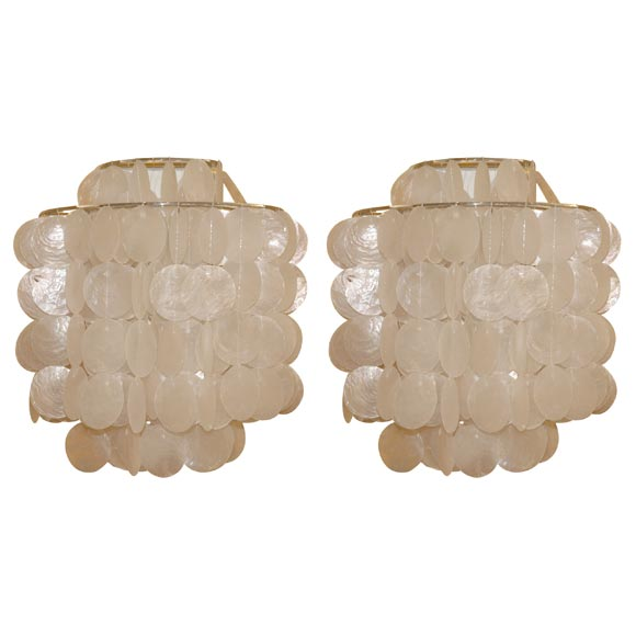 Capiz Shell Sconce By Gwen Carlton At 1stdibs